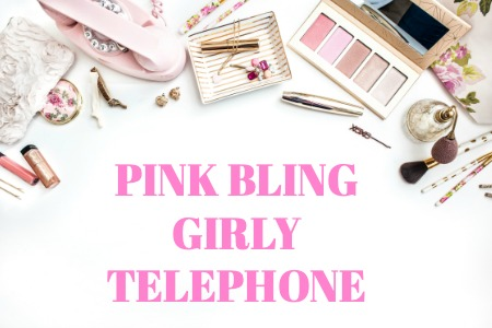 PINK BLING GIRLY TELEPHONE