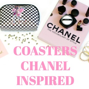 COASTERS CHANEL INSPIRED PATTERNS