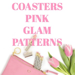 COASTERS PINK GLAM PATTERNS