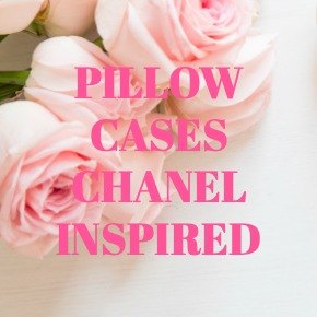 PILLOW CASES CHANEL INSPIRED