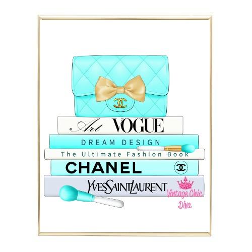 Aqua Glam Fashion Book Set8 Wh Bg-