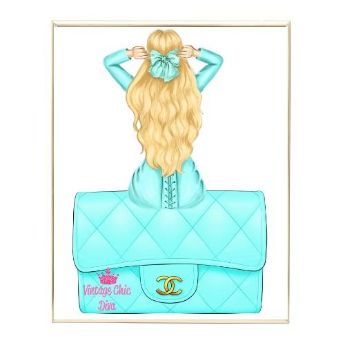 Aqua Glam Fashion Girl Set13 Wh Bg-