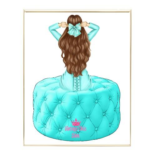 Aqua Glam Fashion Girl Set1 Wh Bg-