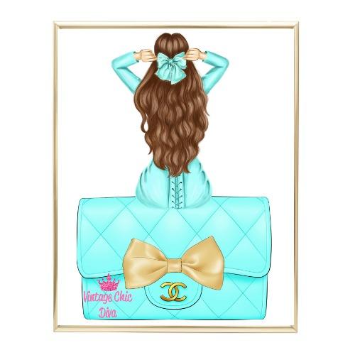 Aqua Glam Fashion Girl Set21 Wh Bg-