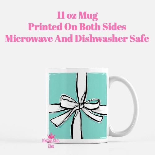 Aqua Bow Box2 Coffee Mug-