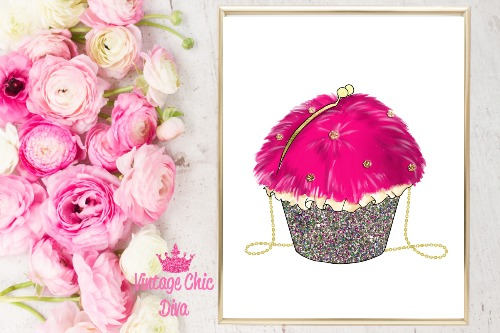 Betsey Johnson Cupcake Purse White Background-