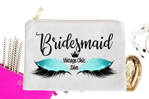 Bridesmaid Aqua Eyes White-