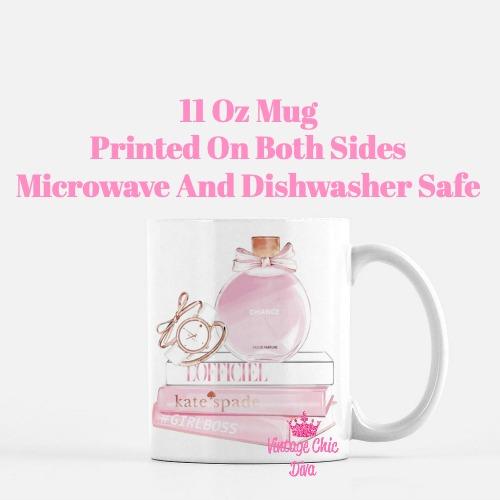 Chanel Chance Pink Perfume Set2 Coffee Mug-