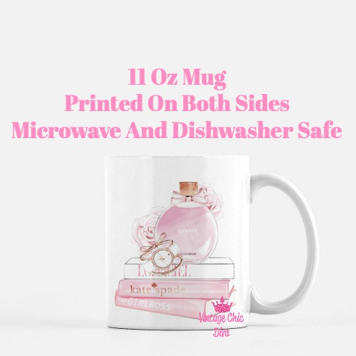 Chanel Chance Pink Perfume Set3 Coffee Mug-