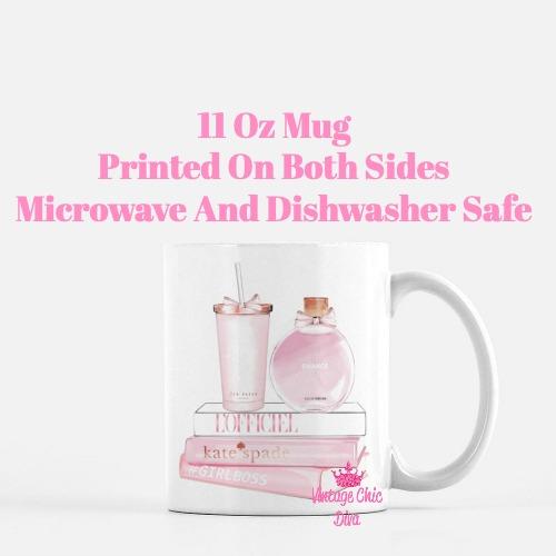 Chanel Chance Pink Perfume Set4 Coffee Mug-