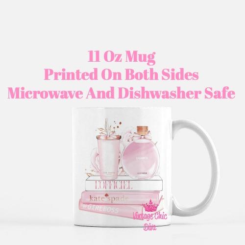 Chanel Chance Pink Perfume Set5 Coffee Mug-