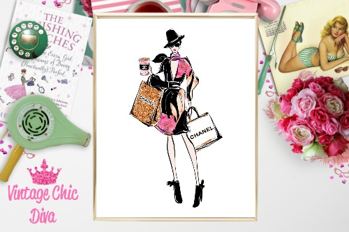 2ee555fa08b5 Chanel Shopping Girl Hat Bags White Background-