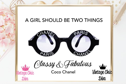 Coco Chanel Quote14 White Background-