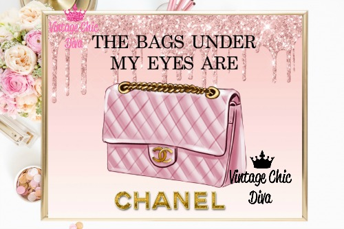 Coco Chanel Quote6 Pink Glitter Drip Background-
