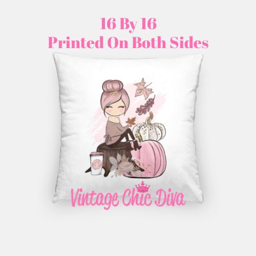 Fall Girl5 Pillow Case-