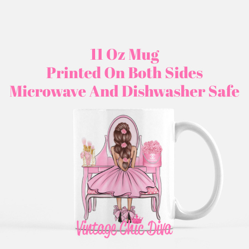Flower Vanity Girl5 Coffee Mug-