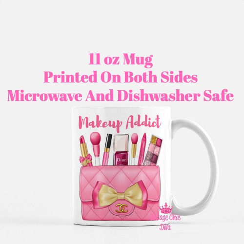 Hot Pink Chanel Bag Makeup10 Coffee Mug-