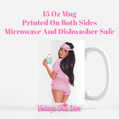 Morning Coffee Girl1 Coffee Mug-