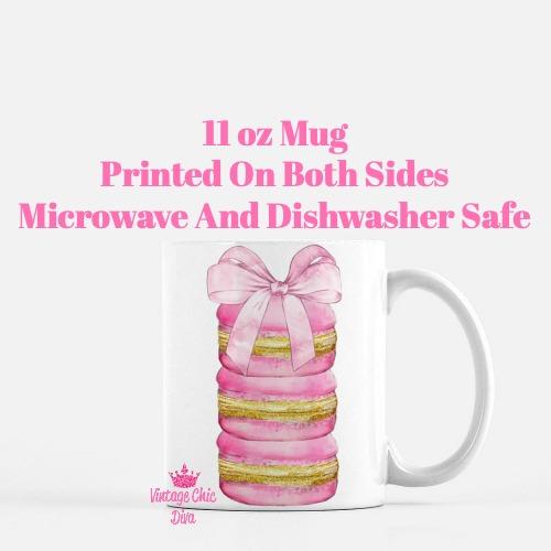Paris Pink Macarons2 Coffee Mug-