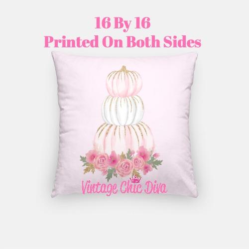 Pastel Pumpkins13 Pillow Case-