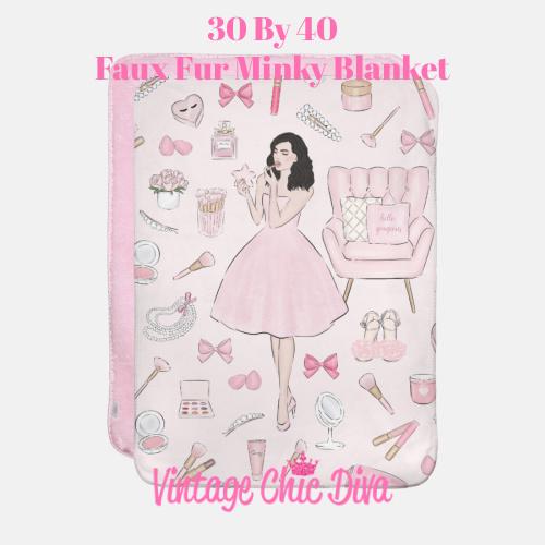 Pink Beauty Girl4 Blanket-