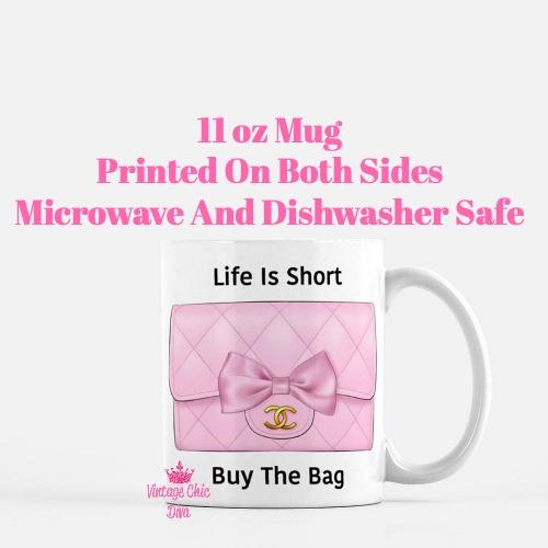 Pink Glam Chanel Bag20 Coffee Mug-