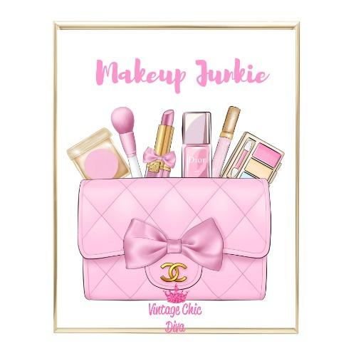 Pink Glam Chanel Handbag27 Wh Bg-
