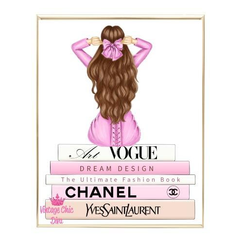 Pink Glam Fashion Girl Set 6 Wh Bg-