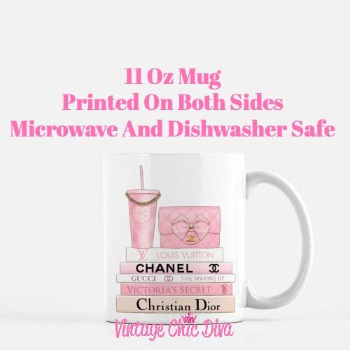 Pink Love Chanel Starbuck Set10 Coffee Mug-