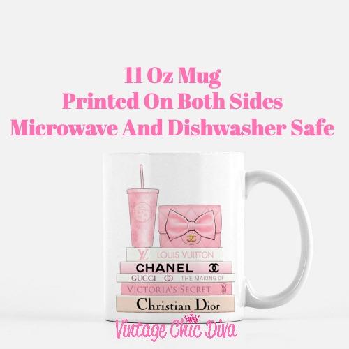 Pink Love Chanel Starbuck Set11 Coffee Mug-