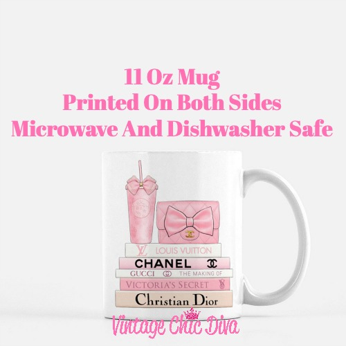 Pink Love Chanel Starbuck Set13 Coffee Mug-