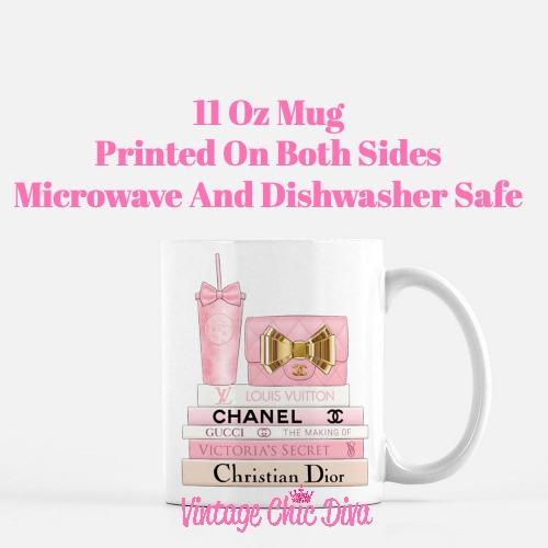 Pink Love Chanel Starbuck Set17 Coffee Mug-