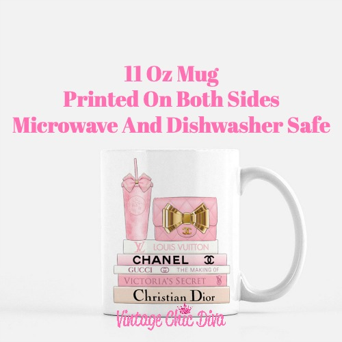 Pink Love Chanel Starbuck Set18 Coffee Mug-