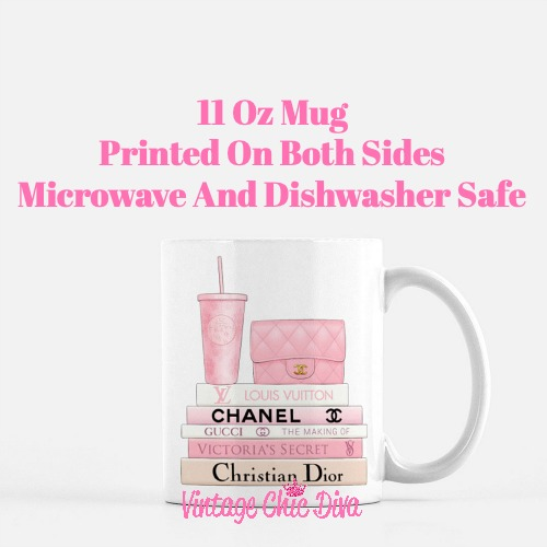 Pink Love Chanel Starbuck Set1 Coffee Mug-