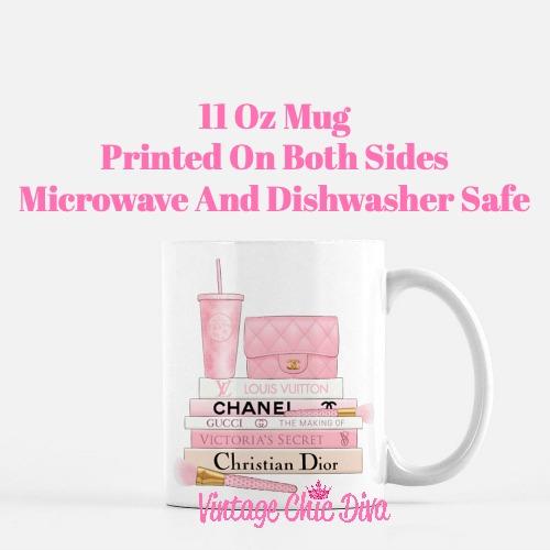 Pink Love Chanel Starbuck Set21 Coffee Mug-