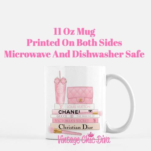 Pink Love Chanel Starbuck Set23 Coffee Mug-