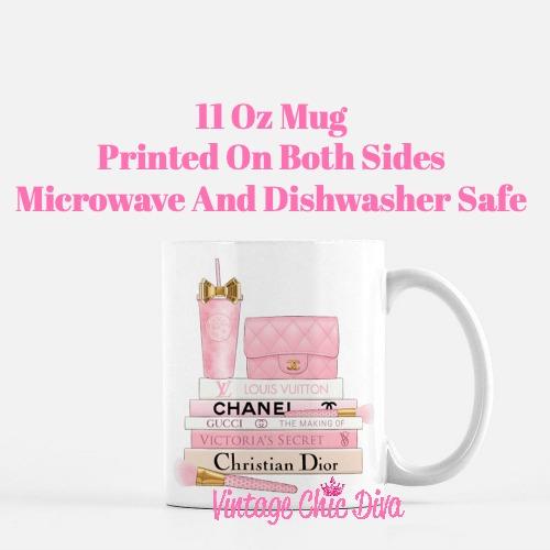 Pink Love Chanel Starbuck Set24 Coffee Mug-