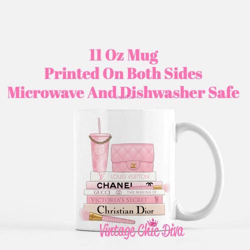 Pink Love Chanel Starbuck Set25 Coffee Mug-