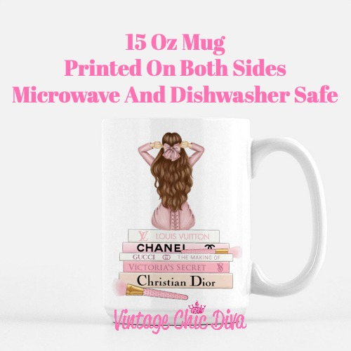 Pink Love Fashion Girl4 Coffee Mug-