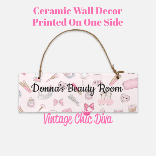 Pink Makeup Beauty Room Sign2-