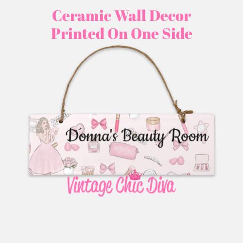 Pink Makeup Girl Beauty Room Sign1-