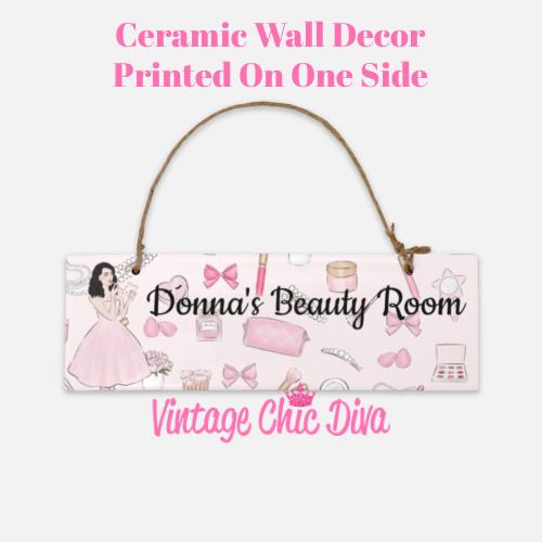 Pink Makeup Girl Beauty Room Sign3-