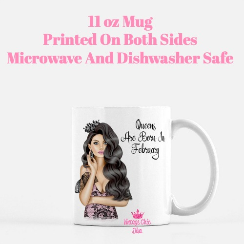 Queens Are Born In February1 Coffee Mug-