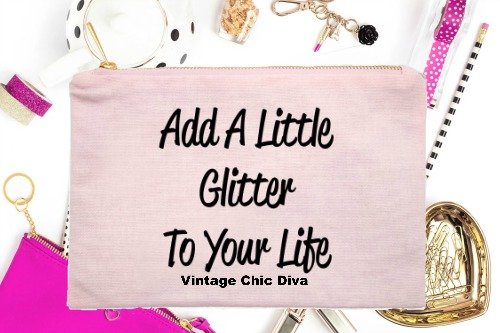 Add A Little Glitter To Your Life Pink-
