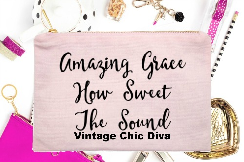 Amazing Grace How Sweet The Sound Pink-