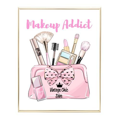 Animal Print Makeup Bag24 Wh Bg-