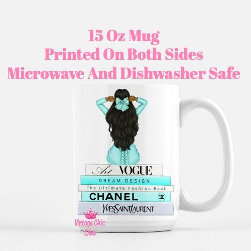Aqua Fashion Girl10 Coffee Mug-