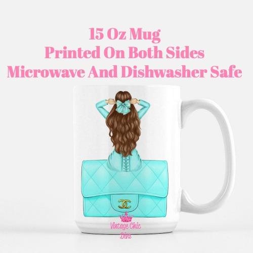 Aqua Fashion Girl11 Coffee Mug-
