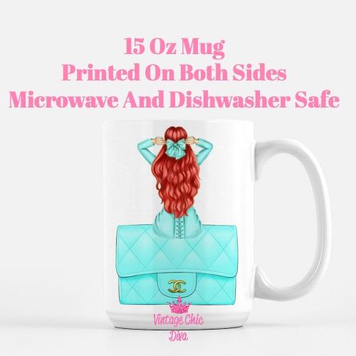 Aqua Fashion Girl14 Coffee Mug-