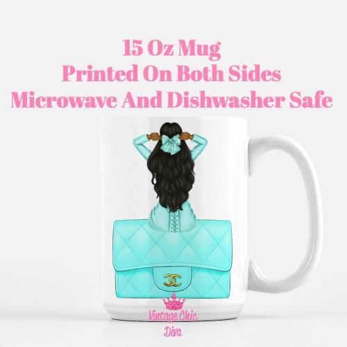Aqua Fashion Girl15 Coffee Mug-